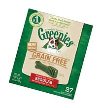GREENIES Grain Free Dental Dog Treats, Regular, 27 Treats,