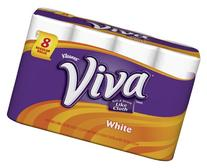 Viva Regular Roll Paper Towels, 44 Sheets per Roll, White, 8