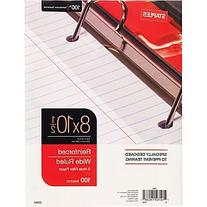 "Staples Reinforced Filler Paper, Wide Ruled, 8"" x 10 1/2"