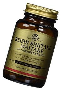 Solgar Reishi Shiitake Maitake Mushroom Extract Vegetable