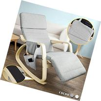 SoBuy Relax Rocking Chair with Adjustable Footrest Design,