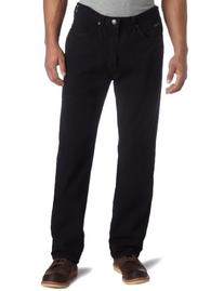 Lee Men's Relaxed Fit Straight Leg Jean, Double Black, 38W x