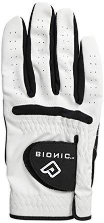Bionic Mens RelaxGrip Golf Glove with Black Palm - Left