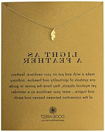 """Dogeared Reminder """"Light as a Feather"""" Gold-Plated Sterling"""