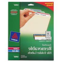 Avery Removable 2/3 x 3 7/16 File Folder Labels 750 Pack
