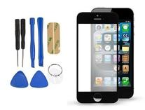 Replacement Front Screen Glass Lens for iPhone 4S Black +