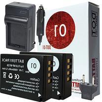 DOT-01 2x Brand 1800 mAh Replacement Fujifilm NP-W126