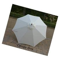 Replacement Umbrella Canopy for 9ft 8 Ribs Off White