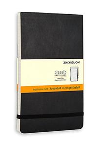 Moleskine Reporter Notebook, Large, Ruled, Black, Soft Cover
