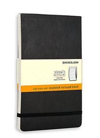 Moleskine Reporter Notebook, Pocket, Ruled, Black, Soft
