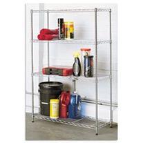 Residential Wire Shelving, Four-Shelf, 36w x 14d x 54h,