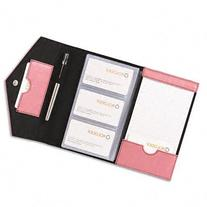 Rolodex resilient business card book searchub resilient business card book faux leather pink colourmoves