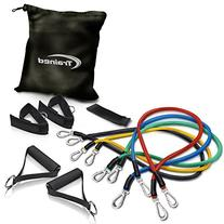 Trained Sports Best Resistance Band Set with Door Anchor,