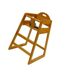 LA Baby Restaurant Style Stack-able Wood High Chair -