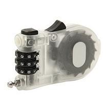 Zimo Retractable Bike Combination Cable Lock 3 Digit White