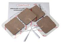 "16 Superior Tan Cloth Electrodes, 2"" x 2"" Resealable Packs"