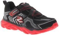 Skechers Kids 95445N Revel Athletic Sneaker,Black/Red,10 M