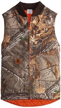 Carhartt Big Boys' Reversible Camo Vest, Real Tree Xtra, X-