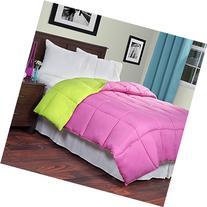 Lavish Home Reversible Down Alternative Comforter, Queen,