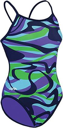 Dolfin Swimwear Reversible String Back - V Blue/Purple, 28