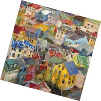 """Reykjavik Rooftops by Amy Dixon, Art Print Poster 18"""" x 18"""