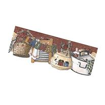 York Wallcoverings RF3593BD Country Book Laundry Border,