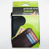 RFID Mens Leather Money Slim Front Pocket Wallet ID Credit