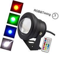 COOLWEST 10W RGB Timing LED Underwater Light Spotlight Flood