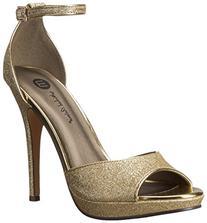 Michael Antonio Women's Rhys Dress Sandal, Gold, 10 M US
