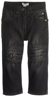 Pumpkin Patch Boy's Rib Waist Knee Panel Jeans, Black Denim