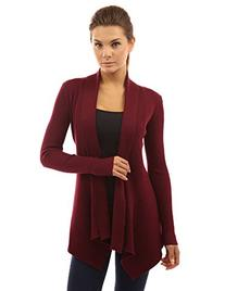 PattyBoutik Women's Ribbed Cascading Open Cardigan