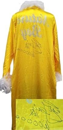 Nature Boy Ric Flair Signed Yellow Feathered Wrestling Robe