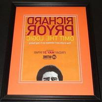 Richard Pryor Omit the Logic 2013 Framed 11x14 ORIGINAL