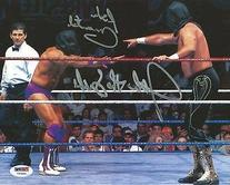 Rick Martel & Jake the Snake Roberts Signed WWE 8x10 Photo