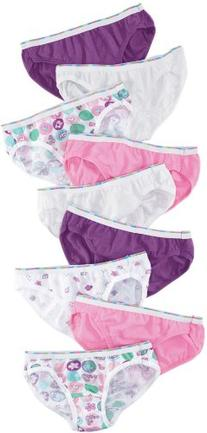 1bdd910f61ac Hanes Girls' No Ride Up Cotton TAGLESS® Bikinis 9-Pack