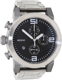 Nixon Men's The Ride Sterling Silver Watch One Size Black