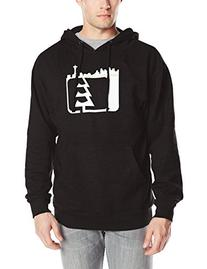 Northwest Riders Men's Skyline Hooded Pullover, Black, Small