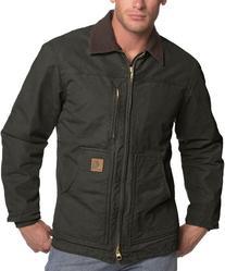 Carhartt Men's Ridge Coat Sherpa Lined Sandstone,Moss,XXXX-