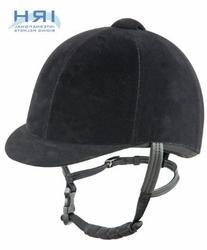IRH Medalist Velveteen Riding Helmet, Black, 6 7/8