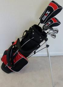 Boys Right Handed Junior Golf Club Set with Stand Bag for
