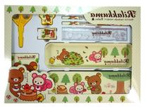 8 Piece Rilakkuma Stationery Set - Rilakkuma Homework Kit