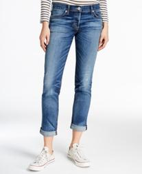 Hudson Jeans Riley Cuffed Disharmony Wash Straight-Leg Jeans