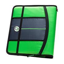 Case-it 1-Inch 3-Ring Binder, 5-Tab, 6-Pocket, Neon Green