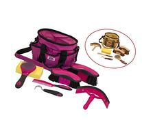 Derby New Ringside 8 Item Horse Grooming Kit Magenta at