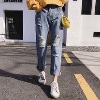 Ripped Wide Leg Jeans