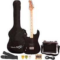 Rise by Sawtooth ST-RISE-ST-BLK-KIT-1 Electric Guitar Pack,