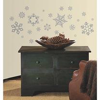 RoomMates RMK1413SCS Glitter Snowflakes Peel & Stick Wall