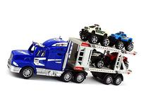 Off Road Police Transporter Trailer 1:32 Children's Kid's
