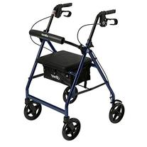 R728BL - Aluminum Rollator with Fold Up and Removable Back