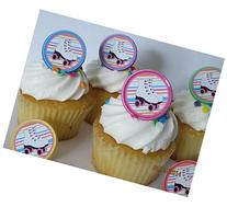 Roller Skating rings cupcake toppers - 12ct - skate party